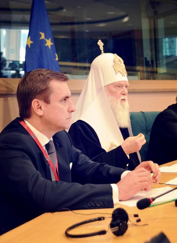 Patriarch Filaret tells EU parliament: Stop Putin before he starts World War III
