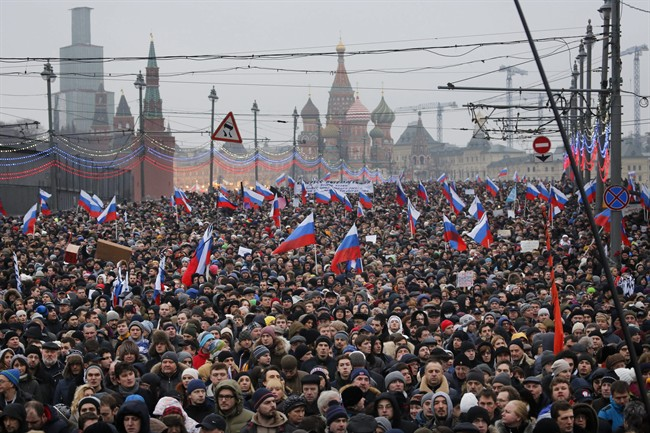 Nicholson supports Nemtsov marchers, goes to France to talk Ukraine