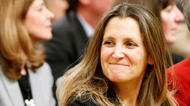 Facing Trump-Putin axis, Ukraine turns to a white knight — Chrystia Freeland