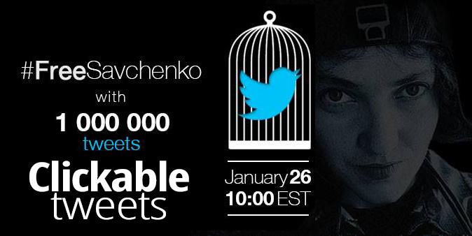 #FreeSavchenko 26 January 2015 twitter storm – clickable tweets here!