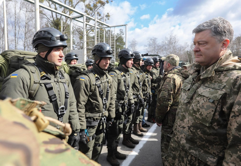 Poroshenko heaps praise on National Guard for service to the country