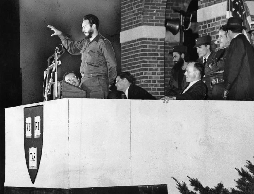 Castro at Harvard University 1959