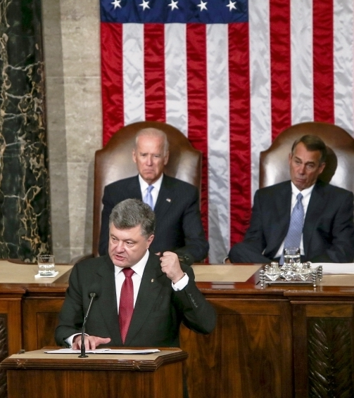 Poroshenko delivers forceful speech before joint session of U.S. Congress