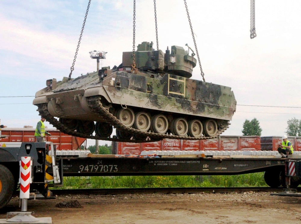 Operation Atlantic Resolve sees main battle tanks and fighting vehicles in Baltics