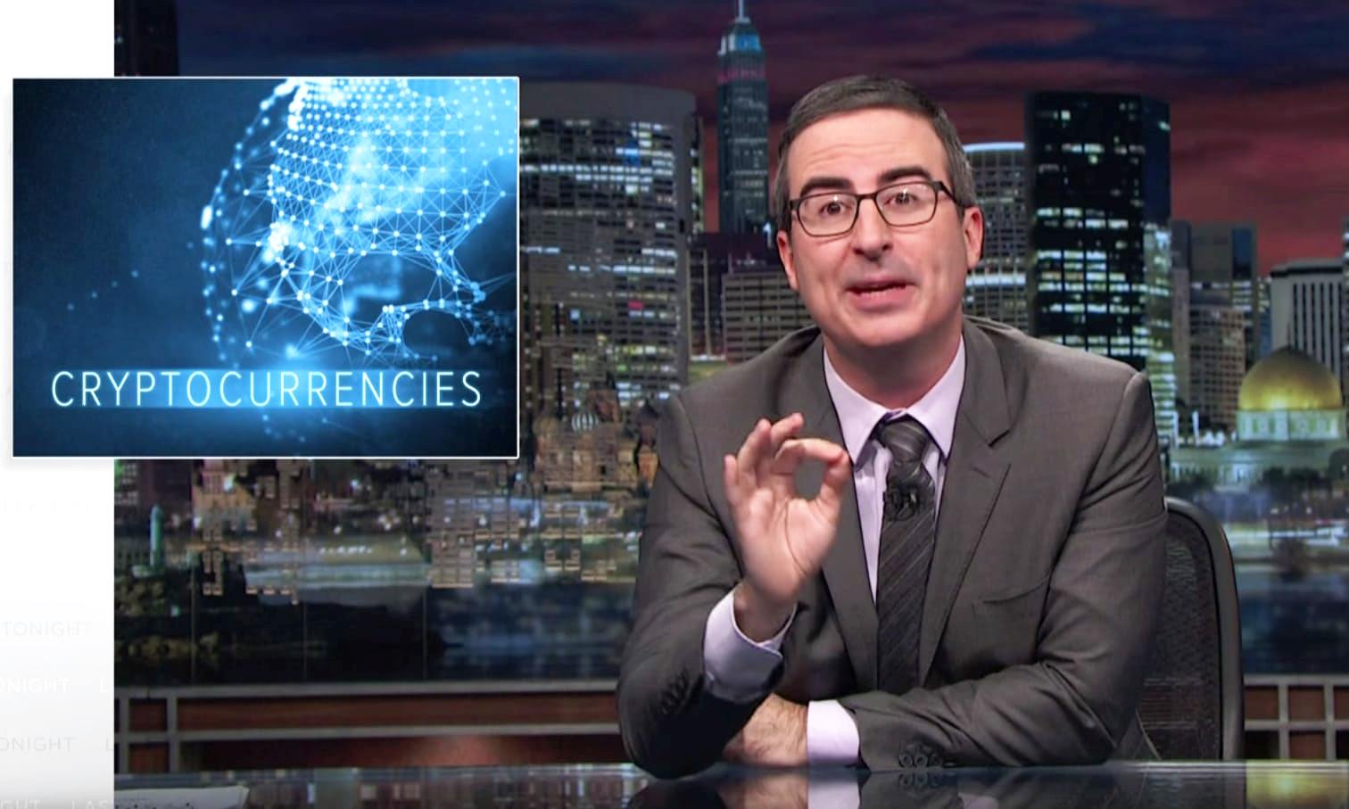 John Oliver's HBO Show Digs Crypto & Blockchain, Laughs at Bitconnect, EOS in Bitcoin-Themed Episode
