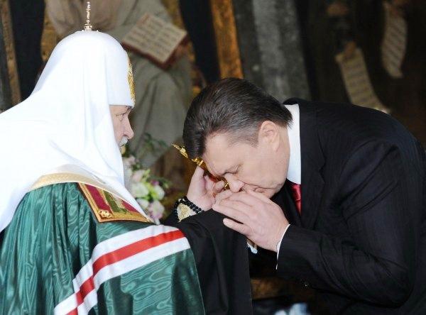 Patriarch Kirill was Yanukovych's Spiritual Father
