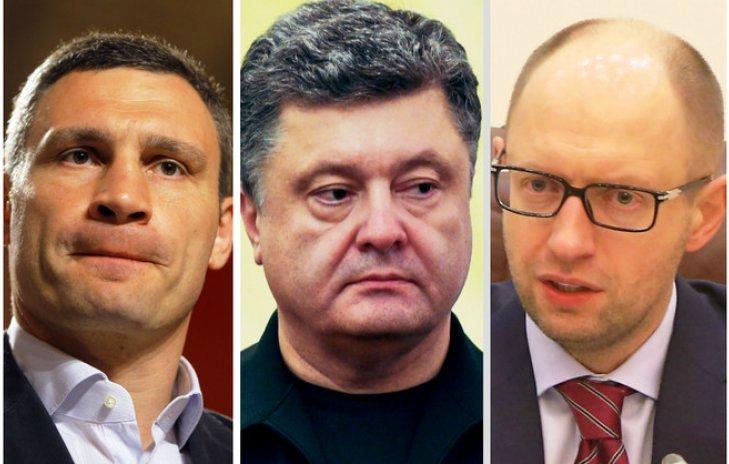 Poroshenko, Klitschko and Yatsenyuk unite forces for October vote