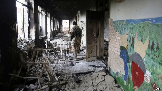 HRW: Hundreds of Schools Destroyed in Ukraine War, Military Use Must Stop