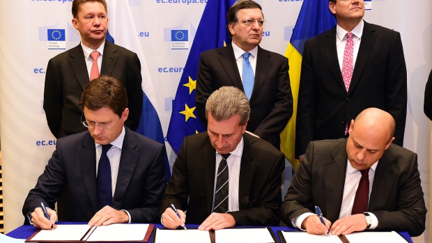 Ukraine and Russia agree on interim gas supply for Nov. 14–March 15