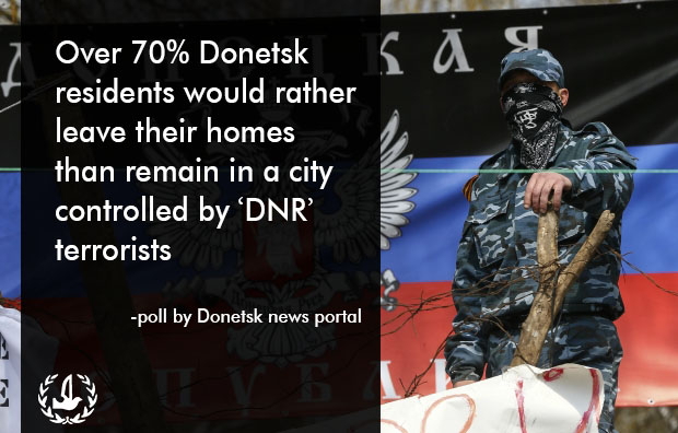 "Over 70% of Donetsk Oblast residents don't want to live under ""separatist"" rule"