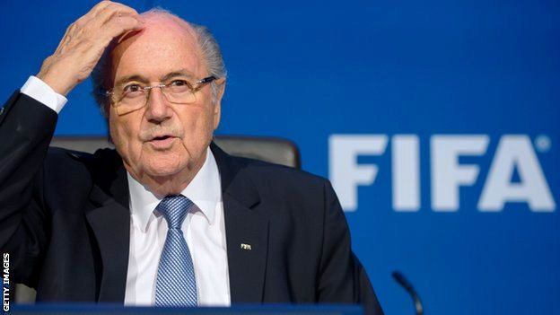 "Corporate sponsors send Blatter a ""Resign Now!"" message"