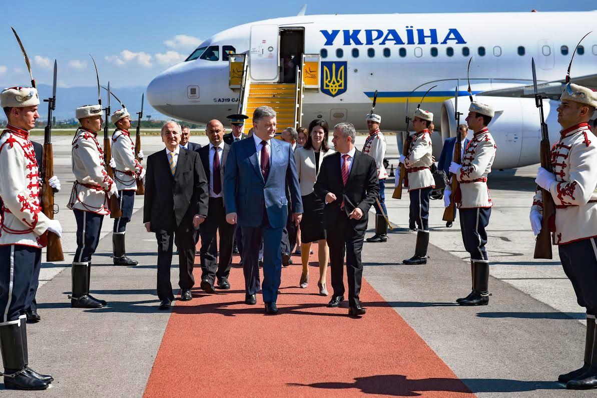 President Petro Poroshenko begins official visit to Bulgaria