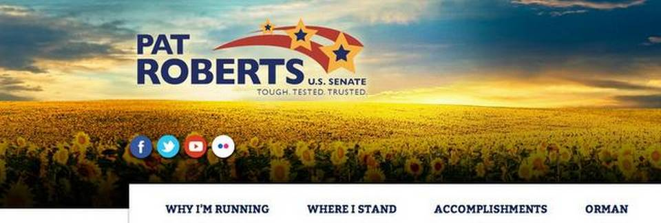 Roberts' Senate campaign uses photos of sunflowers from Ukraine, not Kansas