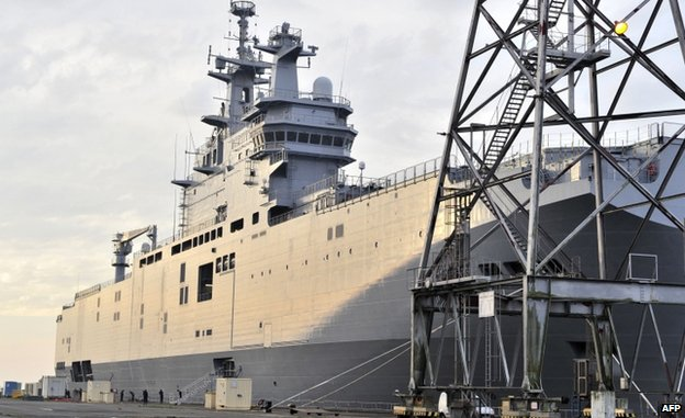 Russia Mistral: France halts delivery indefinitely