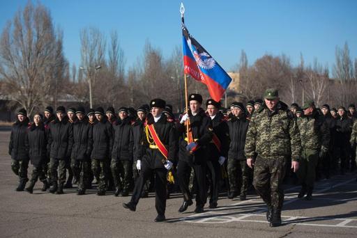 Teenage cadets swear allegiance to Ukraine rebel state